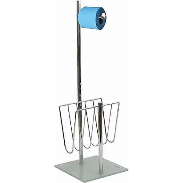 Freestanding Toilet Tissue Dispenser and Magazine Rack