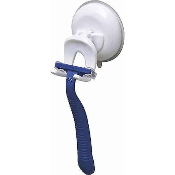 Suction Mounted Bathroom Men Razor Shaver Holder White