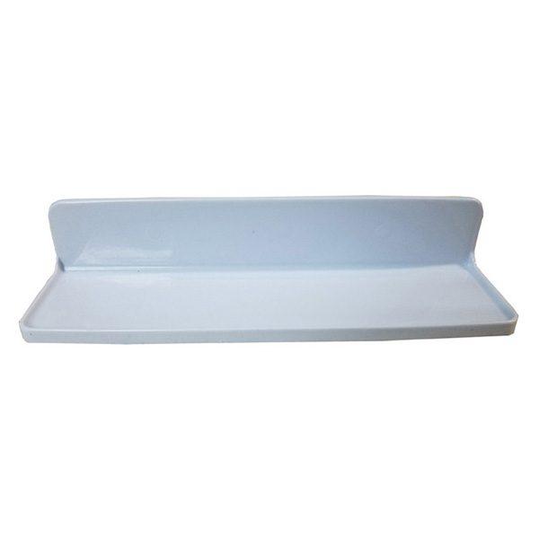 Rectangular Bath Shower Caddy Shelf SALI Adhesive or to Be Fixed White