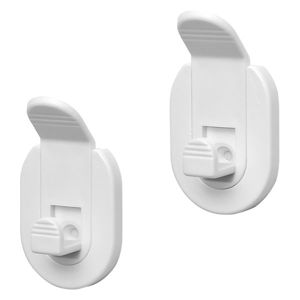 Set of 2 Detachable Towel and Robe Hooks SALI Adhesive or to Be Fixed White