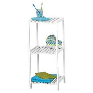 Bathroom Multi-Use Shelving Unit 3 Shelves- Pine White
