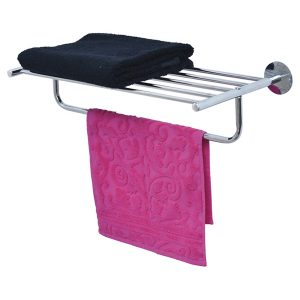 Wall Mounted Bath Shelf and Towel Rack