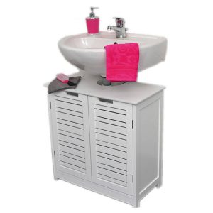 Freestanding Non Pedestal Under Sink Vanity Cabinet Bath Storage Wood, Miami