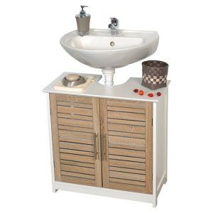 Freestanding Non Pedestal Under Sink Vanity Cabinet Bath Storage Wood, Stockholm