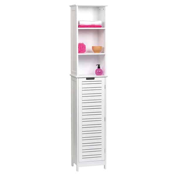Miami Free Standing Cabinet Linen Tower White