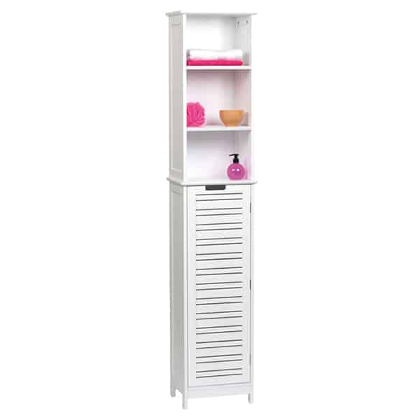 Furniture For Less Miami: Evideco Miami Free Standing Cabinet Linen Tower White