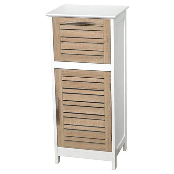 "Bathroom Storage Floor Cabinet Stockholm Oak painted finish 32.7""H X 14.4""L"