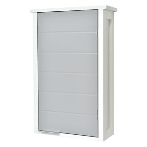 Wall Mounted Bathroom Cabinet 1 Door-Modern D- White and Grey