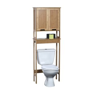 Mahe Free Standing Over The Toilet Space Saver Cabinet Bamboo