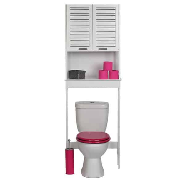 Over The Toilet Space Saver Cabinet Bathroom Furniture Miami White