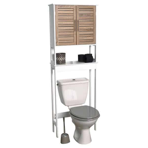 "Over The Toilet Space Saver Cabinet Stockholm Oak-Color 70.5""H X 24.8""L"