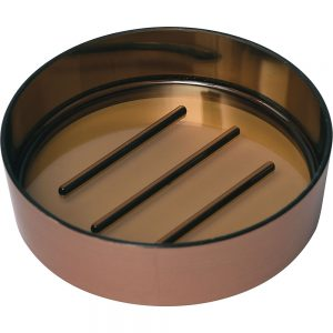 Bathroom Countertop Round Soap Dish Cup COPPER