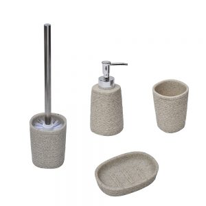 Rope Collection Bathroom Accessory Set 4-Pieces