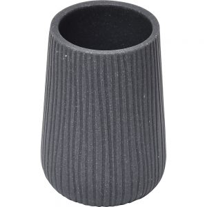 Roma COLLECTION  Bathroom Polyresin Tumbler Dark Grey