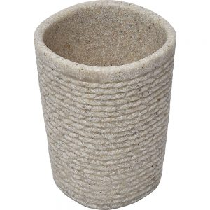 Rope COLLECTION Bathroom Polyresin Tumbler Natural