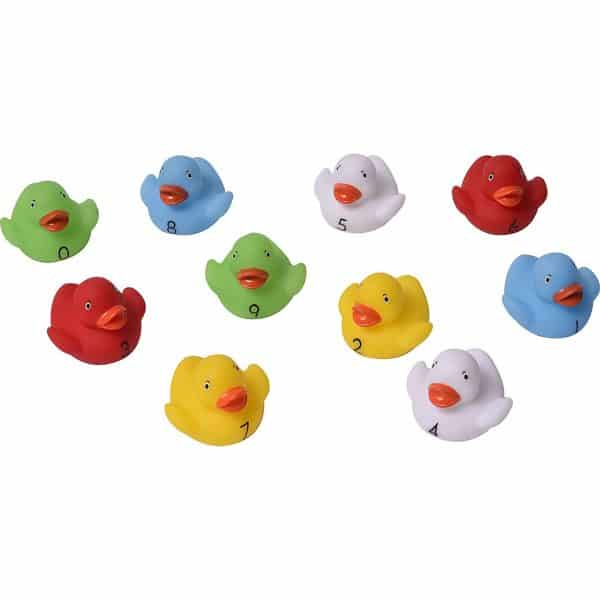 Non-Toxic Bath Numbered Floating Ducks -for Babies and Toddlers- Set of 10