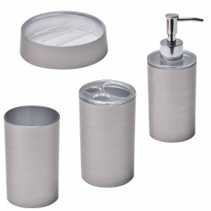 Noumea Collection Bathroom Accessory Set 4-Pieces