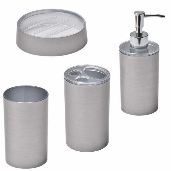 Noumea Collection Bathroom Accessory Set 4-Pieces