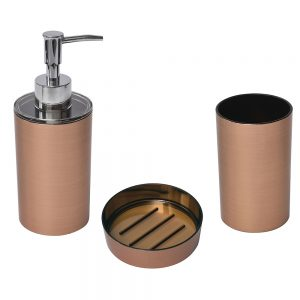 Copper Collection Bathroom Accessory Set 3-Pieces