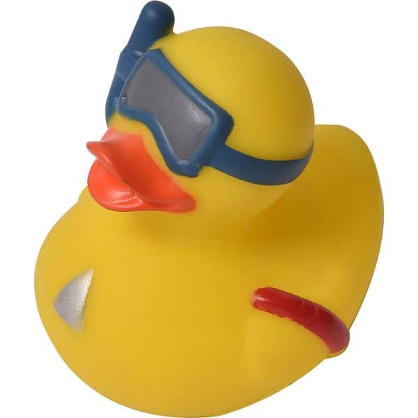 Non-Toxic Floating Bath Toy - Squeaky Yellow Diving Duck