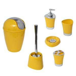 SHINY Collection Bath Accessory Set-6 Pieces Sunshine