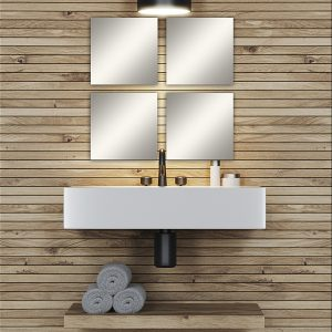 Big Decorative Wall Self Adhesive Shaped Mirrors - Set of 4