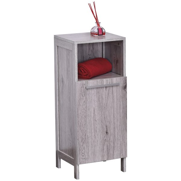 Bath Storage Floor Cabinet Oslo 1 Door Washed Gray Oak