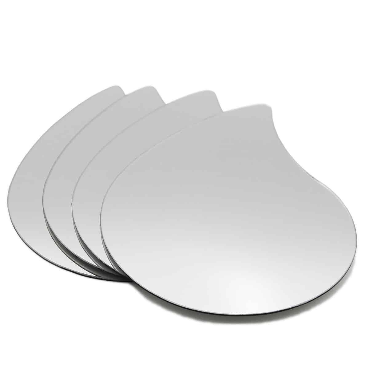 Small Decorative Wall Self Adhesive Shaped Mirrors - Set of 4