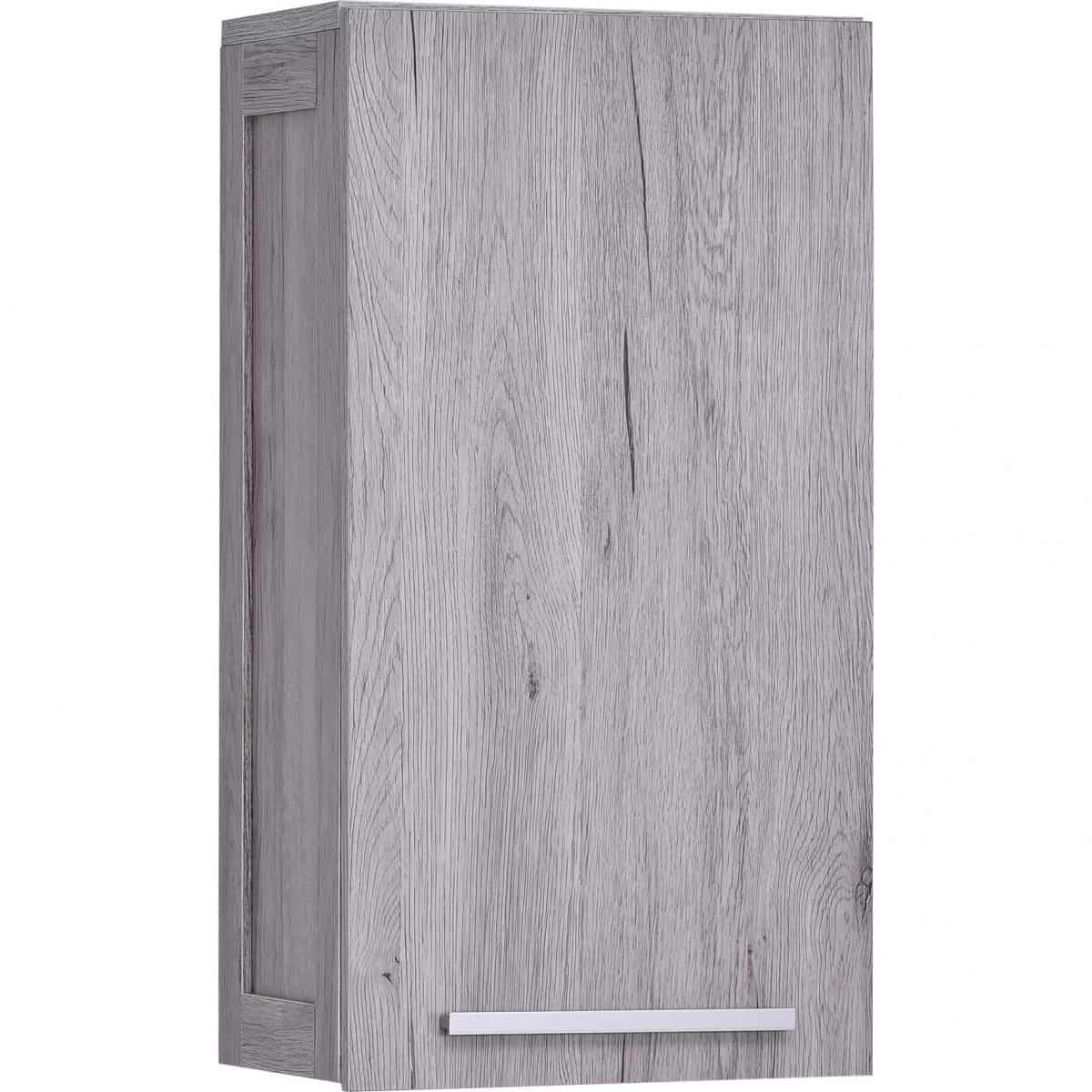 Pleasing Wall Mounted Bath Cabinet Oslo 1 Door 1 Shelf Washed Gray Oak Interior Design Ideas Skatsoteloinfo