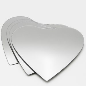 Small Decorative Wall Self Adhesive Shaped Mirrors - Set of 4