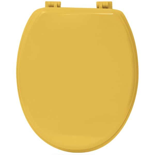 Oval Toilet Seat Solid Yellow Sunshine Wood