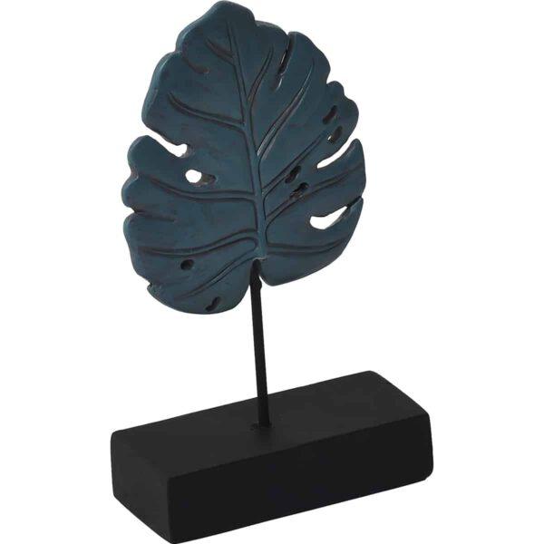 Decorative Exotic Leaf Candle Holder - Resin - Green