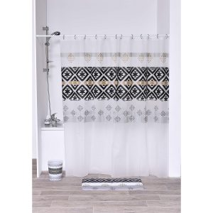 Kenya Collection Printed Peva Liner Shower Curtain Plastic 71x72