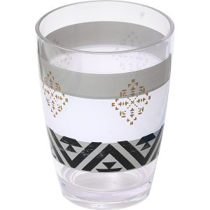Kenya Printed Bath Water Tumbler Clear Acrylic
