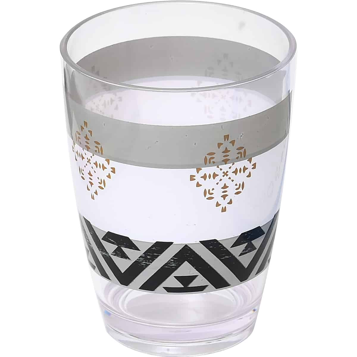 Kenya Printed Bath Water Tumbler Clear Acrylic