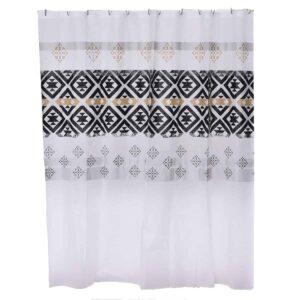 Kenya Collection Printed Peva Liner Shower Curtain Plastic 71x72