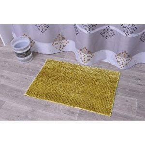 Satiny Microfiber Bath Mat Shaggy Loop 20 X 31 - Gold
