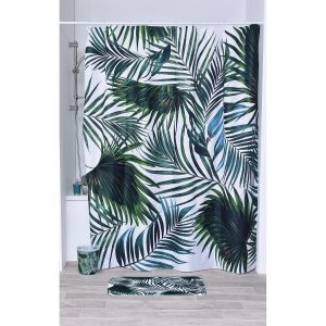 "Tropical Printed Polyester Fabric Shower Curtain 71""W x 79""H"