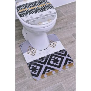 Kenya Pedestal Mat Microfiber Bath Toilet Contour Rug