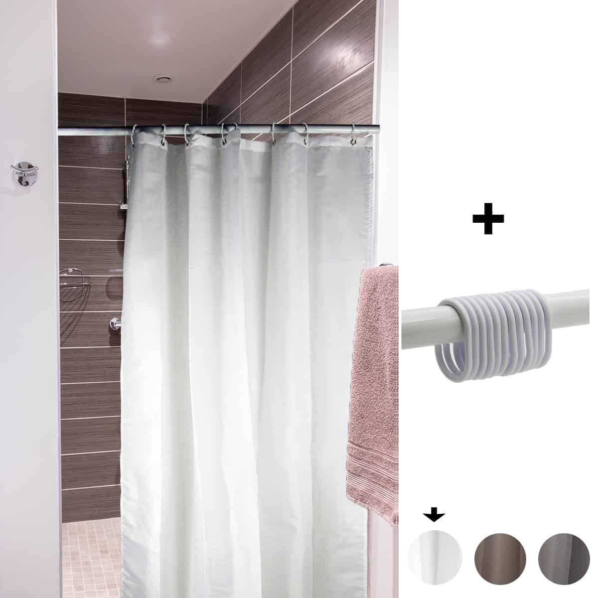 Mildew Resistant Small Stall Shower