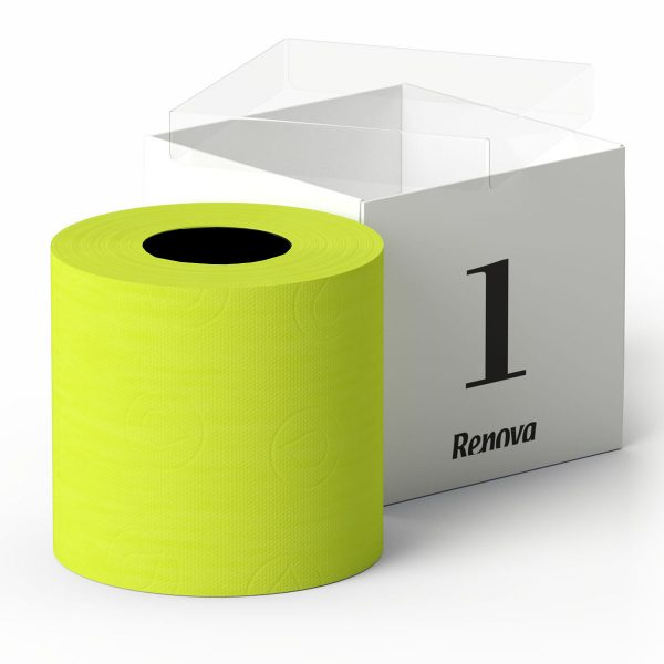 Luxury Scented Colored Toilet Paper Gift Box 1 Roll 3-Ply Bath Tissue