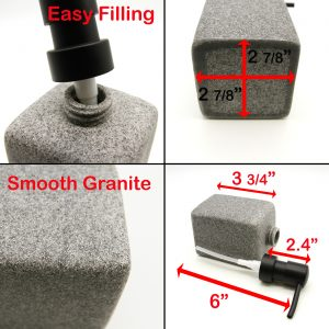Granite Collection Square Vanity Soap & Lotion Dispenser Polyresin Gray