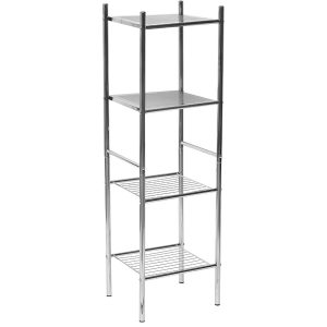 4-Tier Bathroom Shelving Unit Storage Rack Tower Shelf Organization