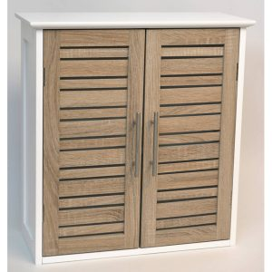 "Wall Mounted Bath Cabinet Stockholm 2 Doors Wood Oak-color 20.5 L X 21.7""h"