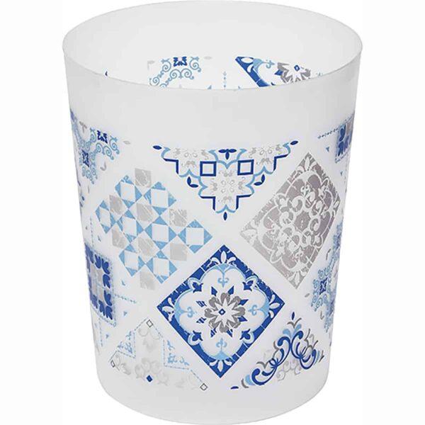 Mansion Printed Trash Can Waste Basket 4.5-liters-1.2-Gal