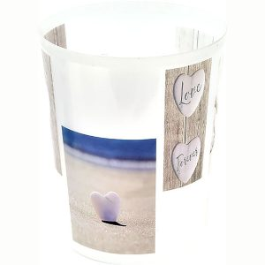 Love Printed Trash Can Waste Basket 4.5-liters-1.2-Gal