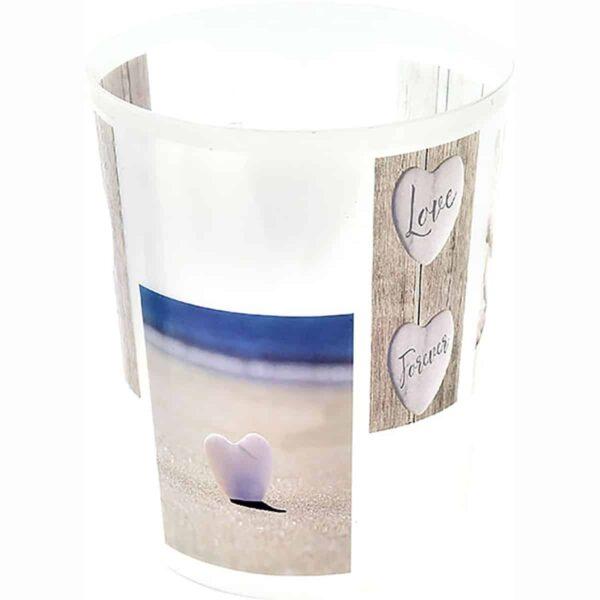 Love Printed Trash Can Waste Basket 4.5-liters-1.2-Gal