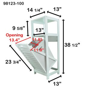 Tilt-Out Laundry Linen Hamper Cabinet