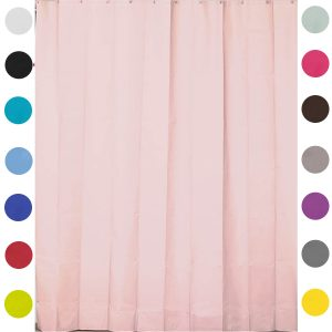 Mildew Resistant Extra Length PEVA Bathroom Shower Curtain Light Pink
