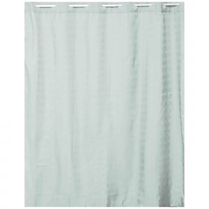 Hookless Shower Curtain Polyester Cubic- Color Matching Hooks 71L x 79H- 180 x 200 cm